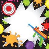 Convite do aniversário do Paintball Imagens de Stock Royalty Free