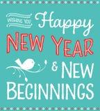 Convite do ano novo Imagem de Stock Royalty Free