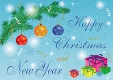 Convite do ano novo Imagens de Stock