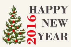 Convite do ano novo Foto de Stock Royalty Free