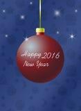 Convite do ano novo Fotografia de Stock