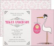 Convite do bebê Fotografia de Stock