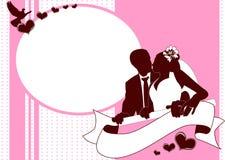 Convite do cartão de casamento Imagens de Stock Royalty Free