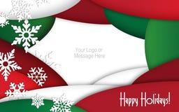 Convite do cartão de Natal Fotografia de Stock Royalty Free