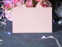 Convite do cartão do dia do ` s do Valentim Fotografia de Stock Royalty Free