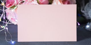 Convite do cartão do dia do ` s do Valentim Imagens de Stock Royalty Free