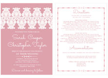 Convite do cartão do convite do casamento com ornamento Fotos de Stock Royalty Free