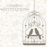 Convite do casamento Fotografia de Stock