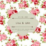 Convite do casamento Fotos de Stock