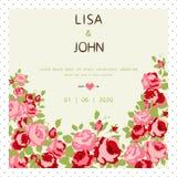 Convite do casamento Imagens de Stock