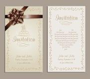 Convite do casamento Imagem de Stock Royalty Free