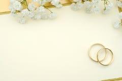 Convite do casamento Foto de Stock
