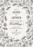 Convite do casamento Camomila bonita das flores Cartão do vintage Imagem de Stock