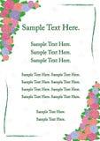 Convite do casamento Cartão de casamento Vetor ajustado: 2014 cavalos à moda Convite com flores e folhas para cartão bonitos e lu Fotos de Stock
