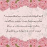 Convite do casamento, cartão do vintage Ilustração Stock