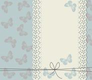 Convite do casamento com borboletas bonitos Imagem de Stock