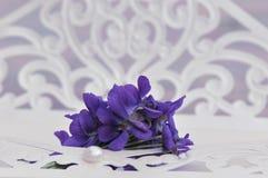 Convite do casamento com flores Fotografia de Stock Royalty Free