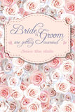 Convite do casamento com rosas Fotos de Stock Royalty Free