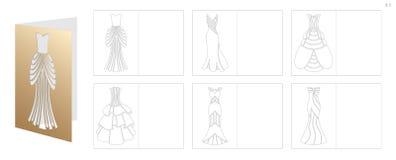 Convite do casamento com vestido Fotografia de Stock Royalty Free