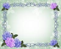 Convite do casamento da beira das rosas Foto de Stock Royalty Free