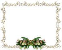 Convite do casamento da beira dos lírios de Calla Fotos de Stock