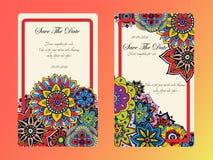 Convite do casamento do cartão do vintage Imagens de Stock