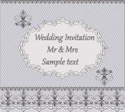 Convite do casamento do laço Ilustração Royalty Free
