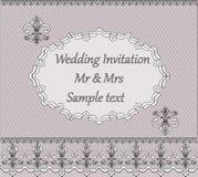 Convite do casamento do laço Ilustração do Vetor