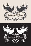 Convite do casamento do nome de etiqueta Fotos de Stock Royalty Free