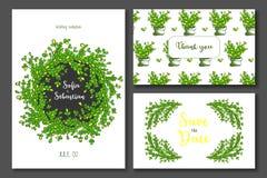 Convite do casamento do verde amarelo ilustração royalty free