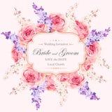 Convite do casamento do vintage Foto de Stock Royalty Free