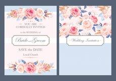 Convite do casamento do vintage Fotos de Stock