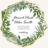 Convite do casamento, projeto de cartão moderno do rsvp Vetor natural, bot imagens de stock