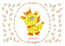 Convite do chuveiro da menina, EP da ilustração do vetor do projeto de rotulação ilustração do vetor