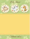 Convite do chuveiro de bebê Foto de Stock Royalty Free