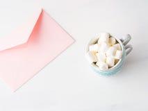 Convite do dia do ` s do Valentim do cartão do rosa do papel vazio Foto de Stock Royalty Free
