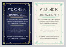 Convite do estilo de Gatsby em Art Deco ou no grupo dos anos 20 da época de Nouveau Imagens de Stock Royalty Free