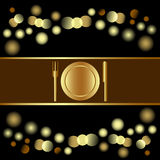 Convite do feriado ou projeto do menu Imagens de Stock