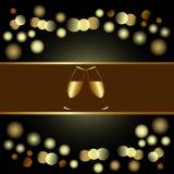 Convite do feriado ou projeto do menu Imagens de Stock Royalty Free
