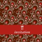 Convite do jantar Fotografia de Stock