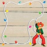 Convite do Lasso do Natal do cowboy ilustração do vetor
