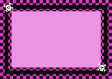 Convite do menu do cartão de Emo Foto de Stock