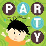 Convite do partido Foto de Stock Royalty Free
