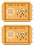 Convite do partido Imagem de Stock