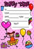 Convite do partido das crianças ilustração stock