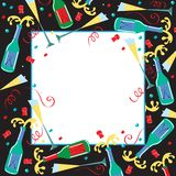 Convite do partido de Champagne Fotografia de Stock Royalty Free