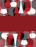 Convite do partido de cocktail Imagens de Stock