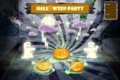 Convite do partido de Halloween com espaço para o texto ilustração stock