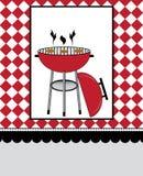 Convite do partido do BBQ Foto de Stock Royalty Free