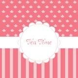 Convite do tempo do chá Imagem de Stock